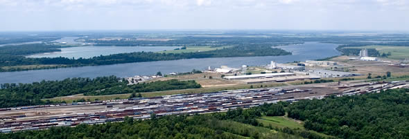 aerial photo pine bluff harbor